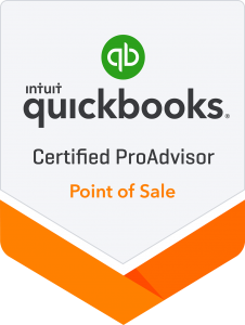 Certified QuickBooks Point of Sale Proadvisor Badge