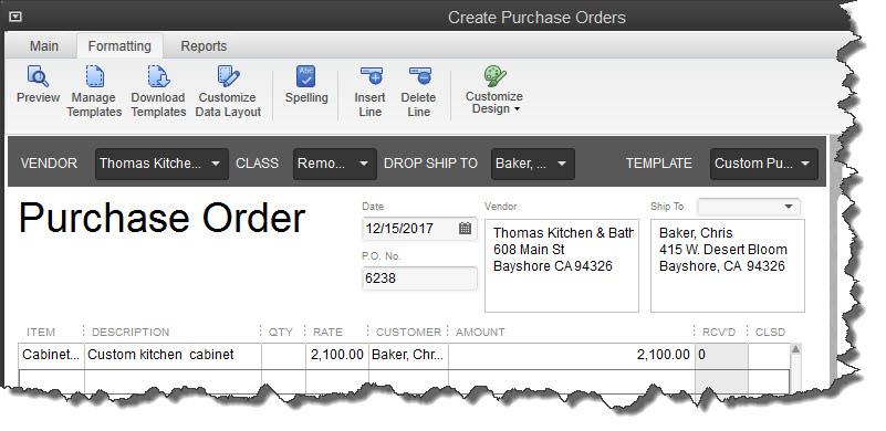 Quickbooks enhanced inventory receiving bill linking problems.