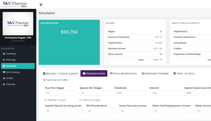 Tax Planner Pro screenshot